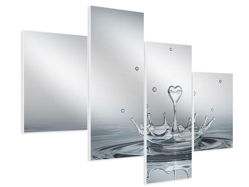 Hartschaumbild 4-teilig modern Wasserfigur