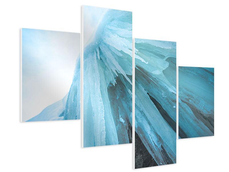 Hartschaumbild 4-teilig modern Die Eiswand