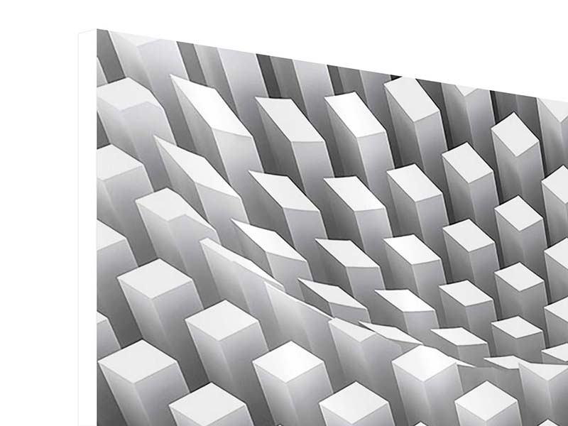 Hartschaumbild 4-teilig modern 3D-Rasterdesign