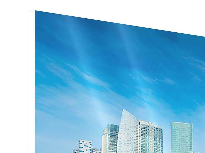 Hartschaumbild 4-teilig modern Skyline Mexiko-Stadt