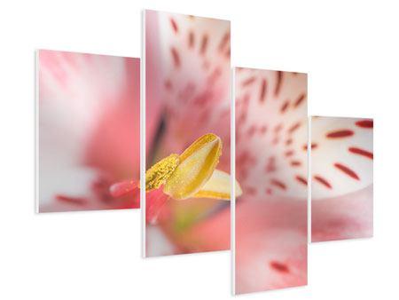 Hartschaumbild 4-teilig modern Der Lilienstempel