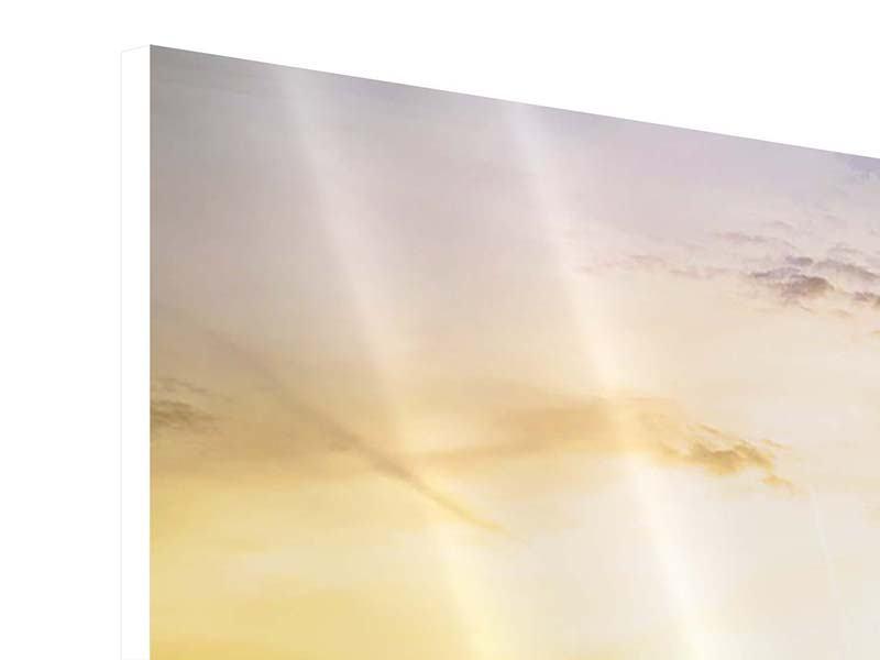 Hartschaumbild 4-teilig modern Skyline Big Ben im Sonnenuntergang
