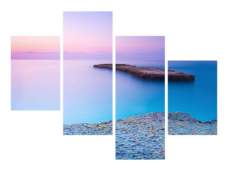 Hartschaumbild 4-teilig modern Unendlicher Ozean