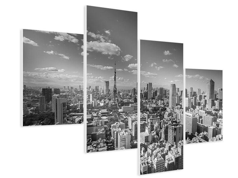 Hartschaumbild 4-teilig modern Tokio