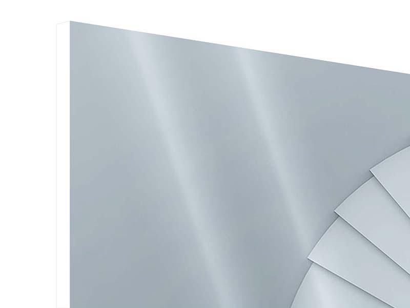 Hartschaumbild 4-teilig modern 3D Wendeltreppe