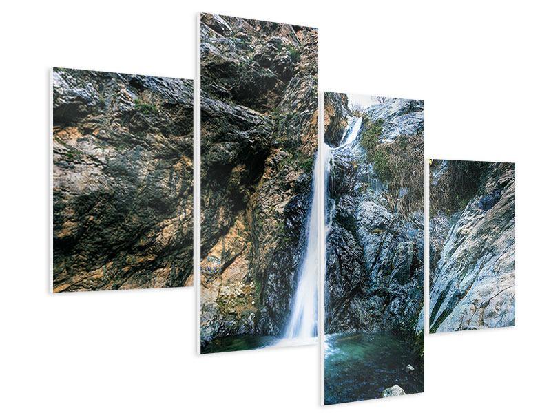 Hartschaumbild 4-teilig modern Bewegtes Wasser