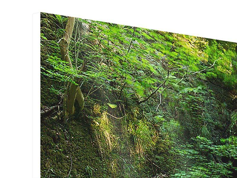 Hartschaumbild 4-teilig modern Fallendes Wasser