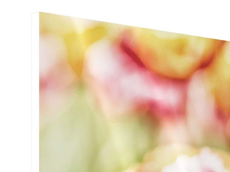 Hartschaumbild 4-teilig modern Die Schönheit der Tulpe