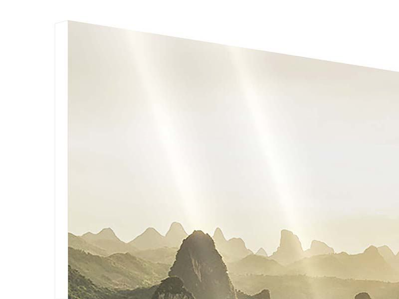 Hartschaumbild 4-teilig modern Die Berge von Xingping