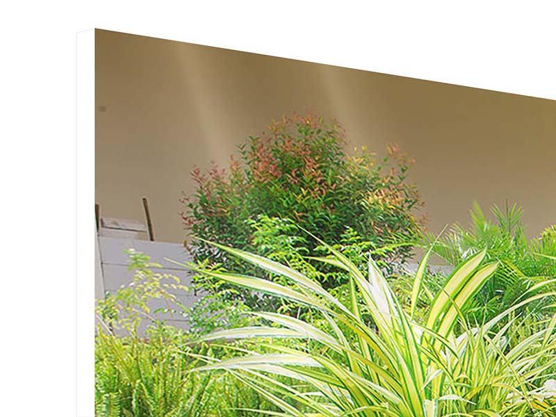 Hartschaumbild 4-teilig modern Paradiesgarten