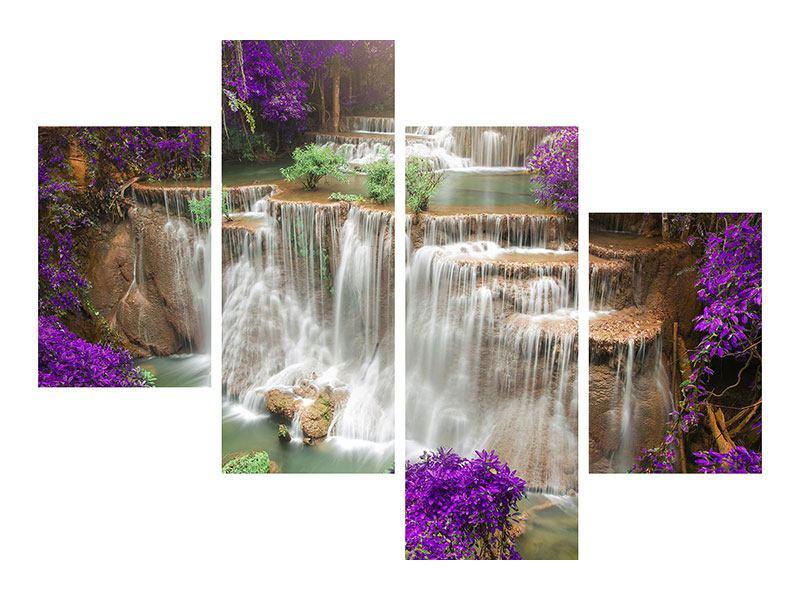 Hartschaumbild 4-teilig modern Garten Eden