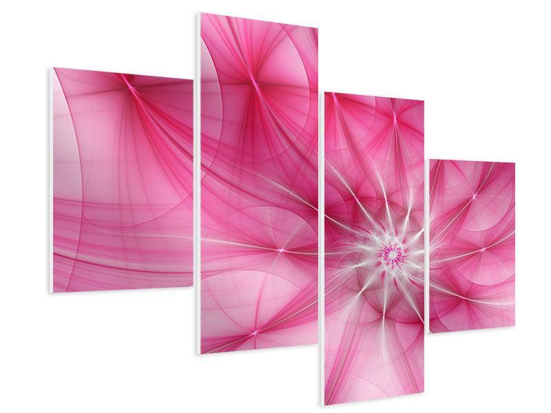 Hartschaumbild 4-teilig modern Abstrakt Daylight