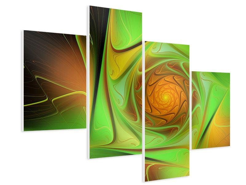Hartschaumbild 4-teilig modern Abstraktionen