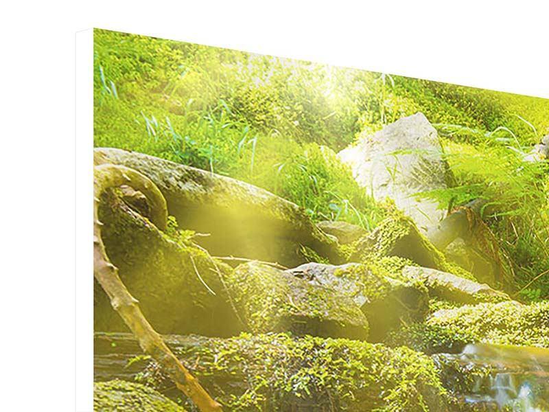 Hartschaumbild 4-teilig modern Schönheit des fallenden Wassers