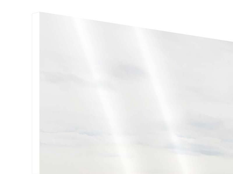 Hartschaumbild 4-teilig modern Leise Wellen