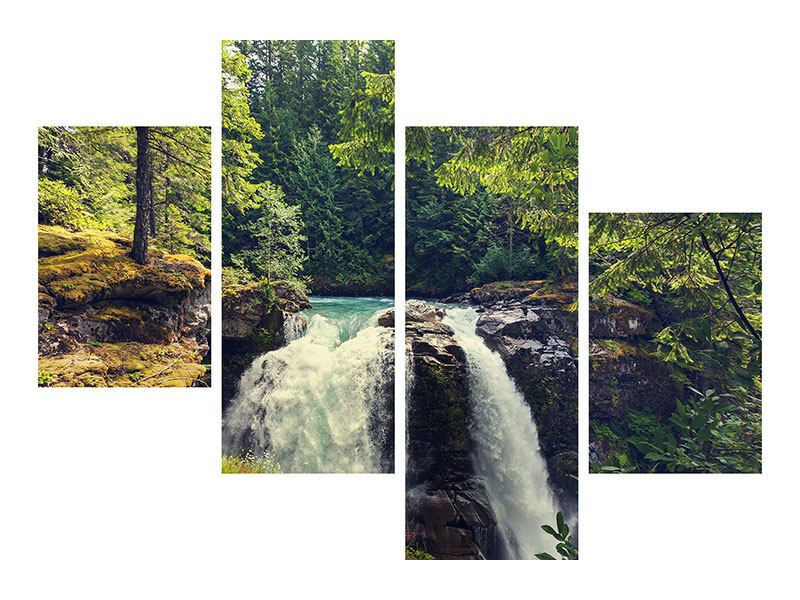 Hartschaumbild 4-teilig modern Flussströmung