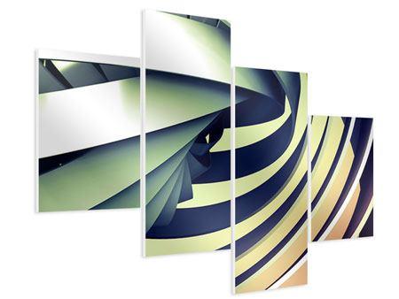 Hartschaumbild 4-teilig modern Abstrakte Perspektiven