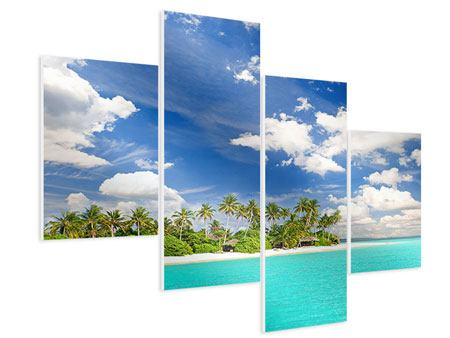 Hartschaumbild 4-teilig modern Meine Insel