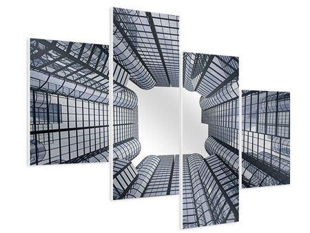 Hartschaumbild 4-teilig modern Besondere Perspektive