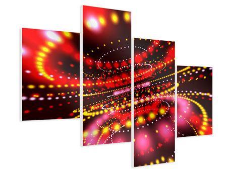 Hartschaumbild 4-teilig modern Abstraktes Lichtspiel