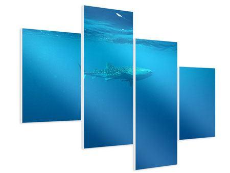 Hartschaumbild 4-teilig modern Der Walhai