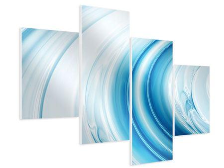 Hartschaumbild 4-teilig modern Abstraktes Glas