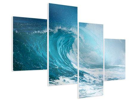 Hartschaumbild 4-teilig modern Die perfekte Welle