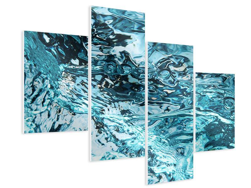 Hartschaumbild 4-teilig modern Schönheit Wasser