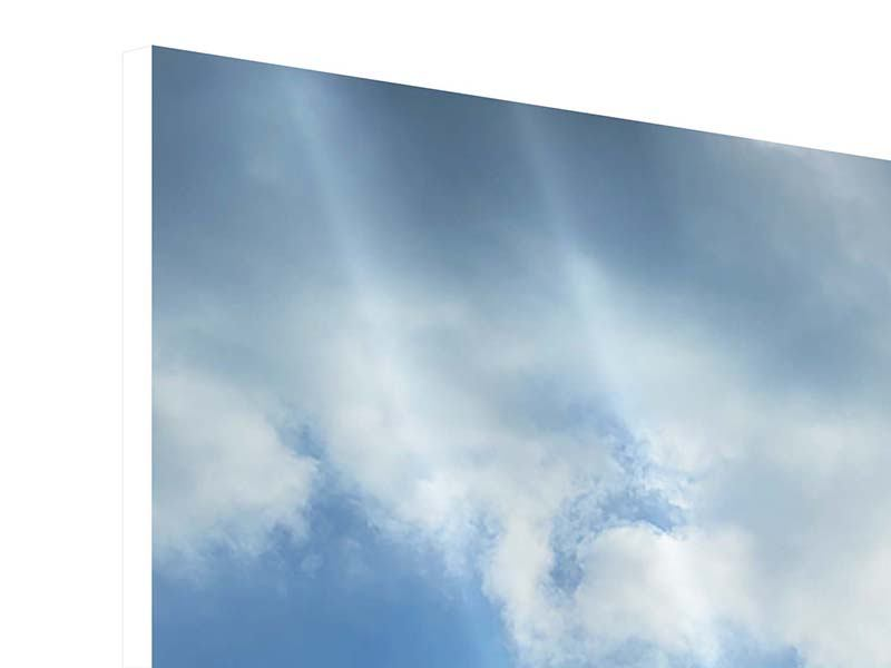Hartschaumbild 4-teilig modern Himmelshoffnung
