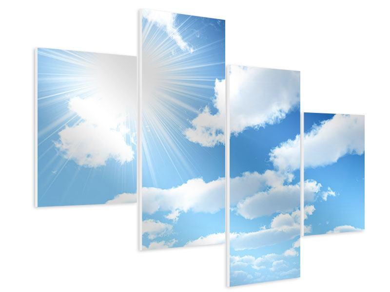 Hartschaumbild 4-teilig modern Am Himmel