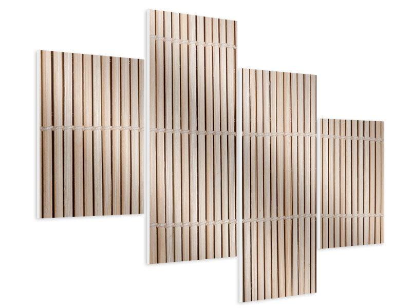 Hartschaumbild 4-teilig modern Lucky Bamboo