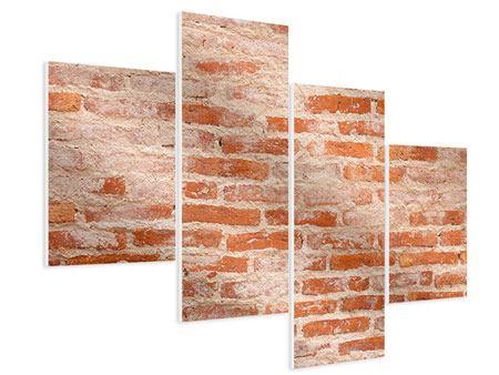 Hartschaumbild 4-teilig modern Mauerwerk