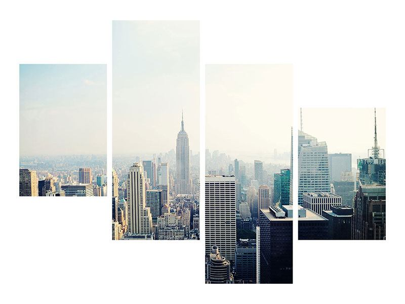 Hartschaumbild 4-teilig modern NYC
