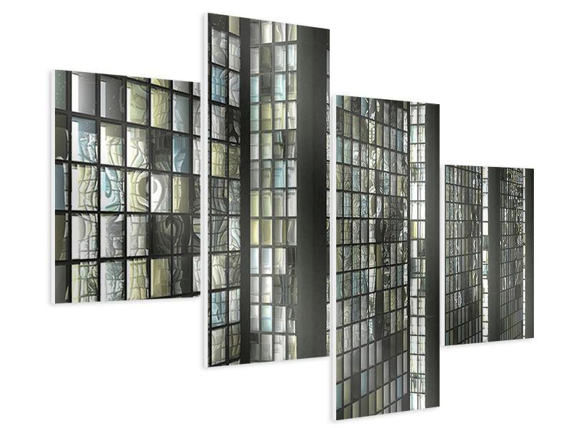 Hartschaumbild 4-teilig modern Windows