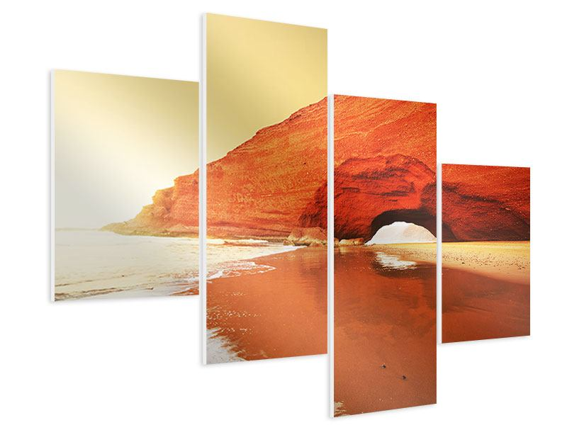Hartschaumbild 4-teilig modern Wasserspiegelung