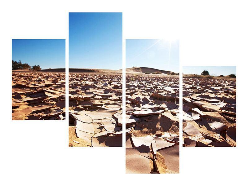 Hartschaumbild 4-teilig modern Dürre