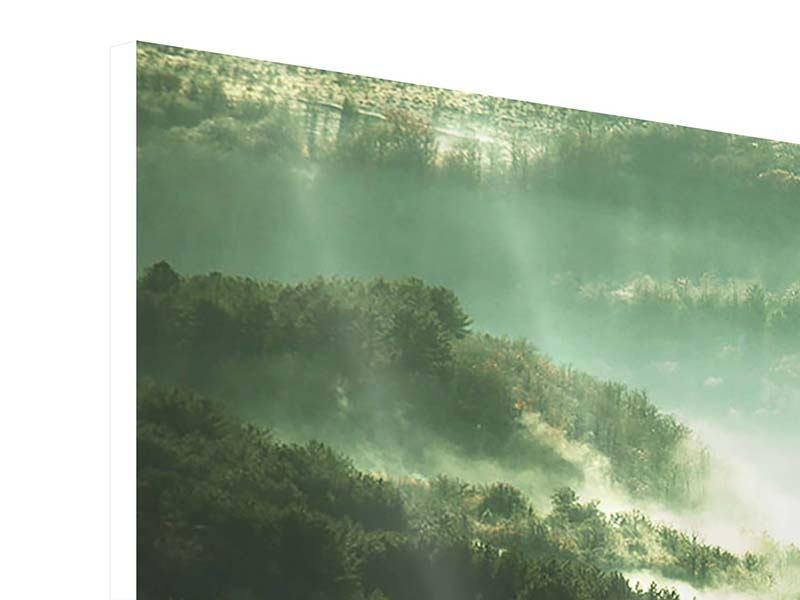Hartschaumbild 4-teilig modern Über den Wäldern