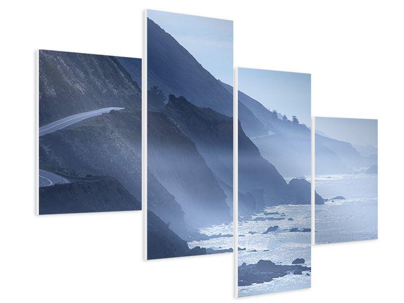 Hartschaumbild 4-teilig modern Bewegung im Wasser