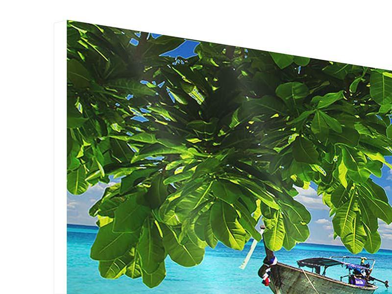 Hartschaumbild 4-teilig modern Ein Blick auf das Meer