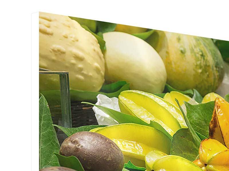 Hartschaumbild 4-teilig modern Früchte