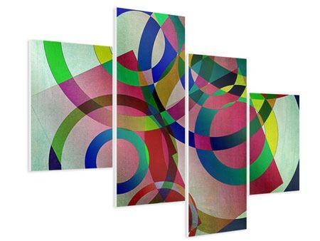 Hartschaumbild 4-teilig modern Wandkunst
