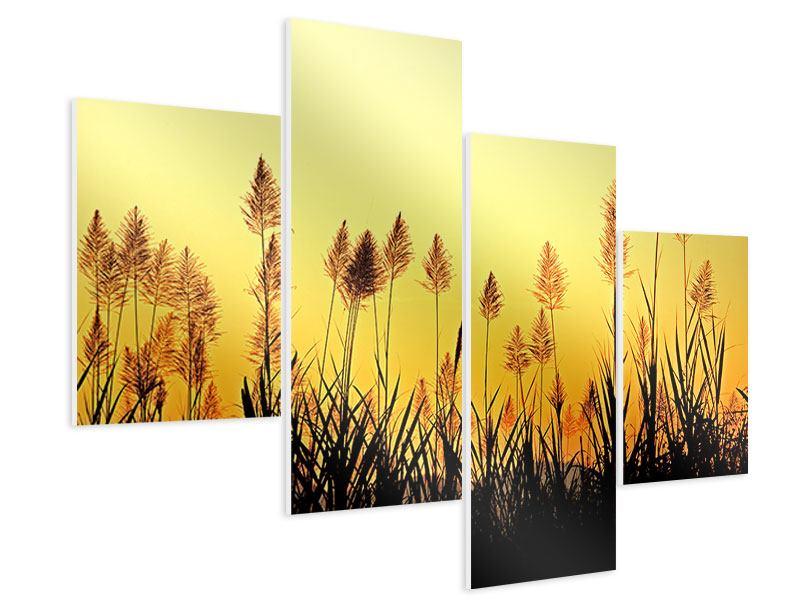 Hartschaumbild 4-teilig modern Die Blumen des Feldes