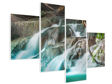 Hartschaumbild 4-teilig modern Am Fluss des Lebens