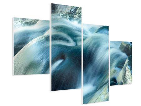 Hartschaumbild 4-teilig modern Das Fliessende Wasser