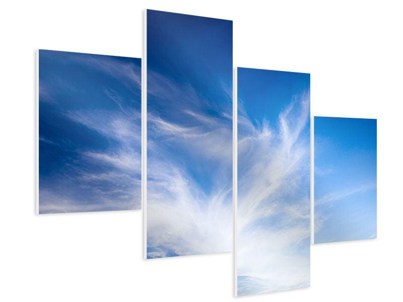 Hartschaumbild 4-teilig modern Schleierwolken