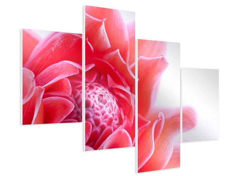 Hartschaumbild 4-teilig modern Etlingera XXL