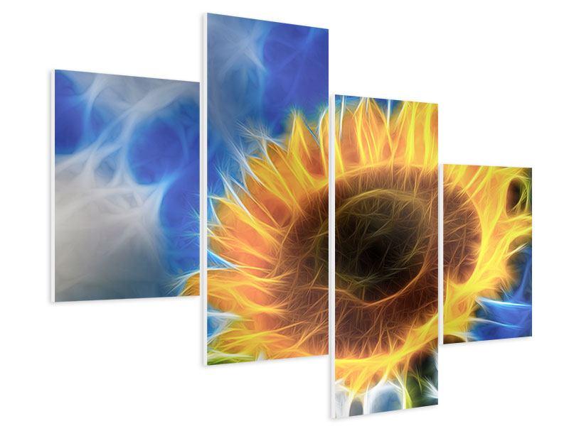 Hartschaumbild 4-teilig modern Der Sonne entgegen