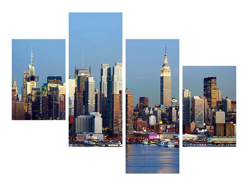 Hartschaumbild 4-teilig modern Skyline Midtown Manhattan