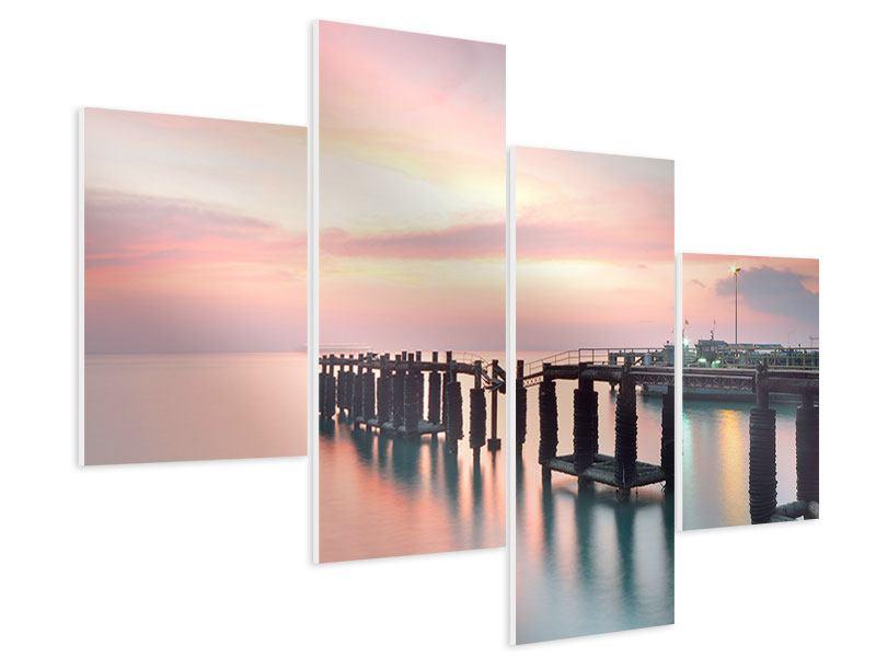 Hartschaumbild 4-teilig modern Der beruhigende Sonnenuntergang
