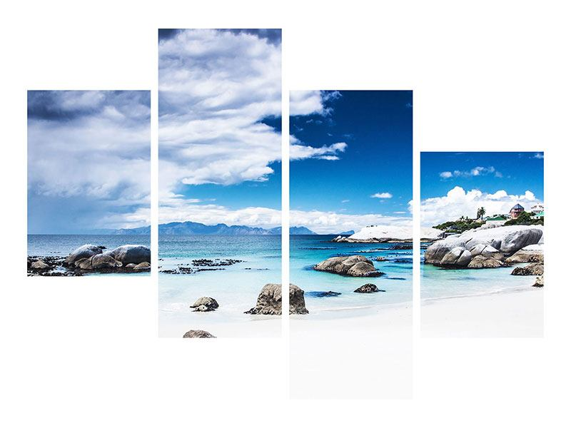 Hartschaumbild 4-teilig modern Inselfeeling